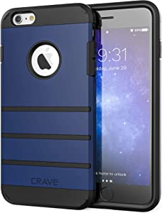 Crave iPhone 6S Plus Case, iPhone 6 Plus Case, Strong Guard Protection Series Case for iPhone 6 / 6s Plus (5.5 Inch) - Navy