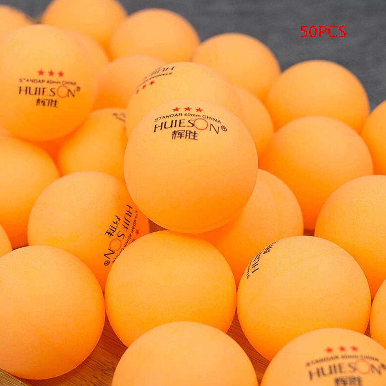 Club ServingボールテーブルテニスボールStar Ping Pongスポーツ一致 B073P2TB4D 50pcs yellow