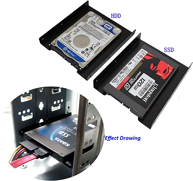 SSD Mounting Bracket SNANSHI SSD Bracket 2.5 to 3.5 Adapter SSD HDD SNS-234