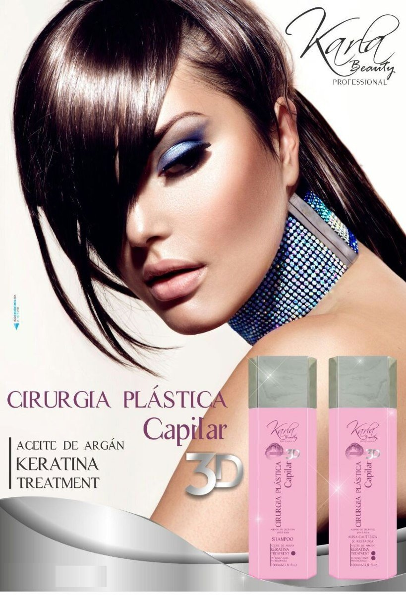 Amazon.com: Cirugia Plastica Capilar 3D / Plastic Surgery / Moroccan Brazilian Keratin Blowout Blow Dry Hair Shampoo (1000ml) + Treatment (1000ml) Effective ...