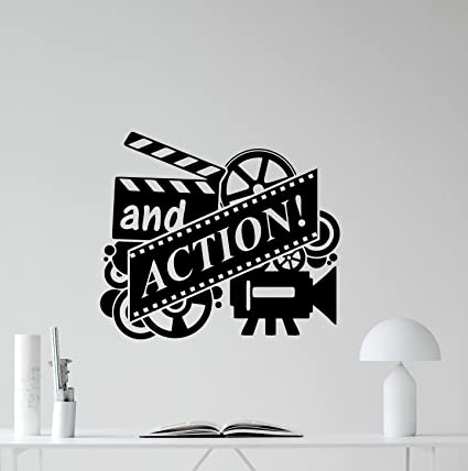 And Action Wall Decal Film Strip Vinyl Sticker Home Cinema Theater ...