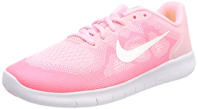 71a6c9b47b070 Nike Mädchen Free RN 2 (GS) Laufschuhe, Pink (Arctic Punch/mtlc ...