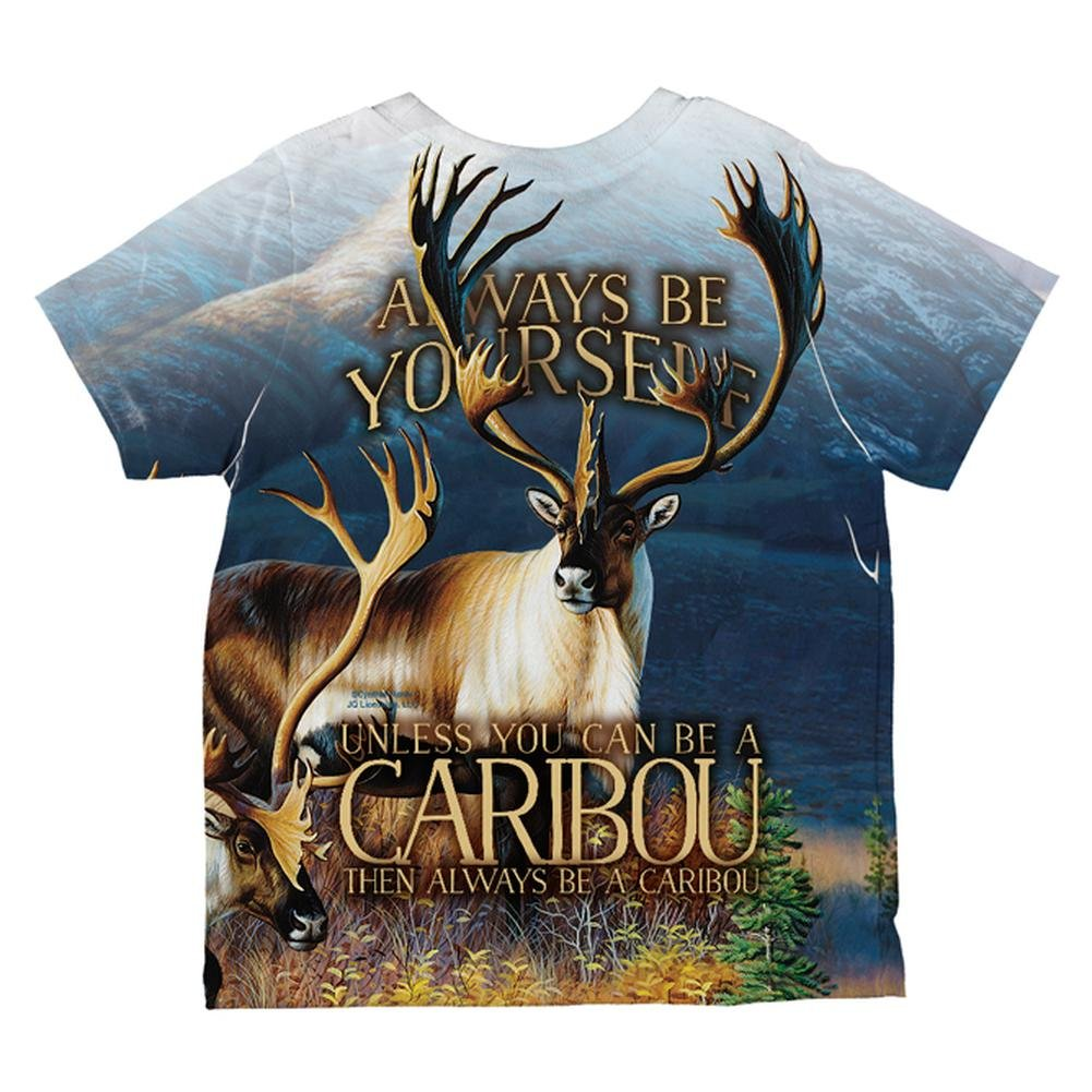Old Glory Always Be Yourself Caribou Reindeer All Over Toddler T Shirt