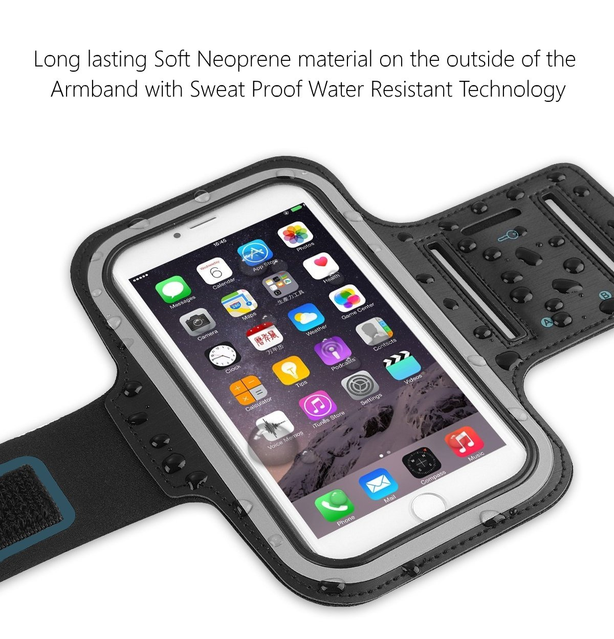 Sweatproof Sports Arm Band Strap Protective Holder Pouch Case For Gym Running For iPhone 6 6S 7 7S 8 Plus Touch Samsung Galaxy S8 S7 S6 S5 Pixel Note 4 5 Edge HTC ONE Android Phone Holder For Running