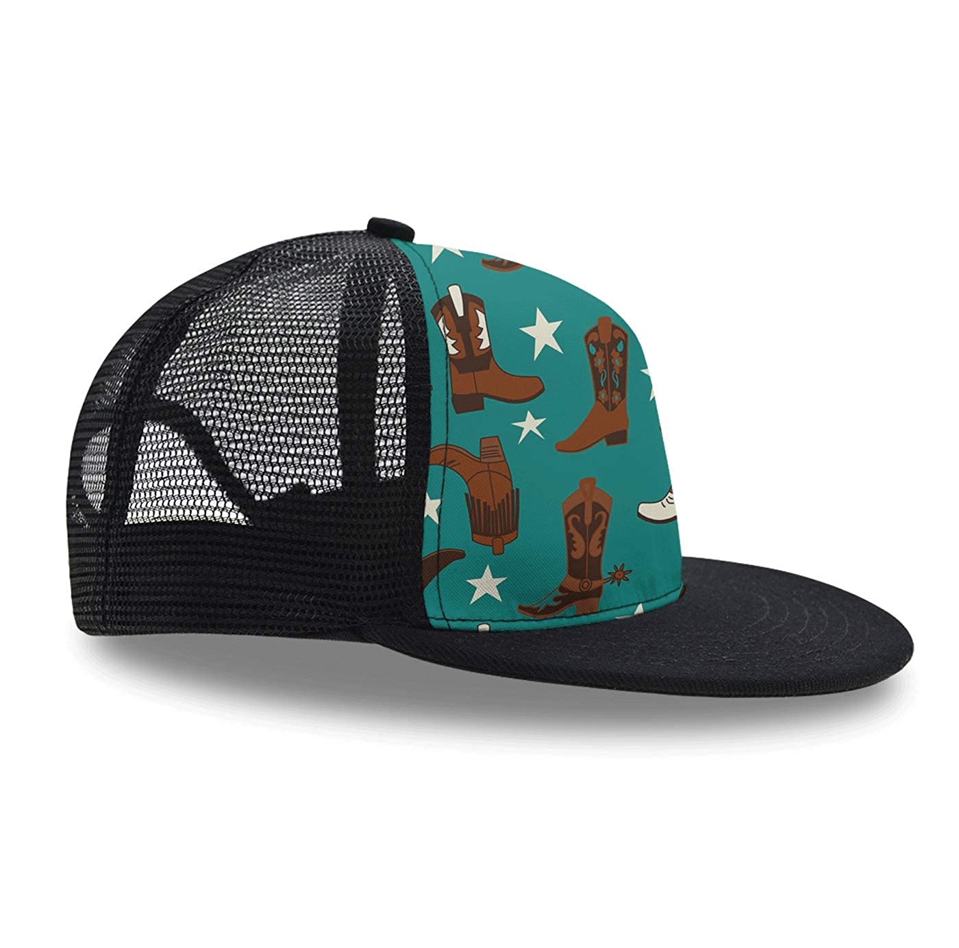 1caf5a30539 Amazon.com: Classic Baseball Caps Teal Cowboy Boots Boy Girl ...