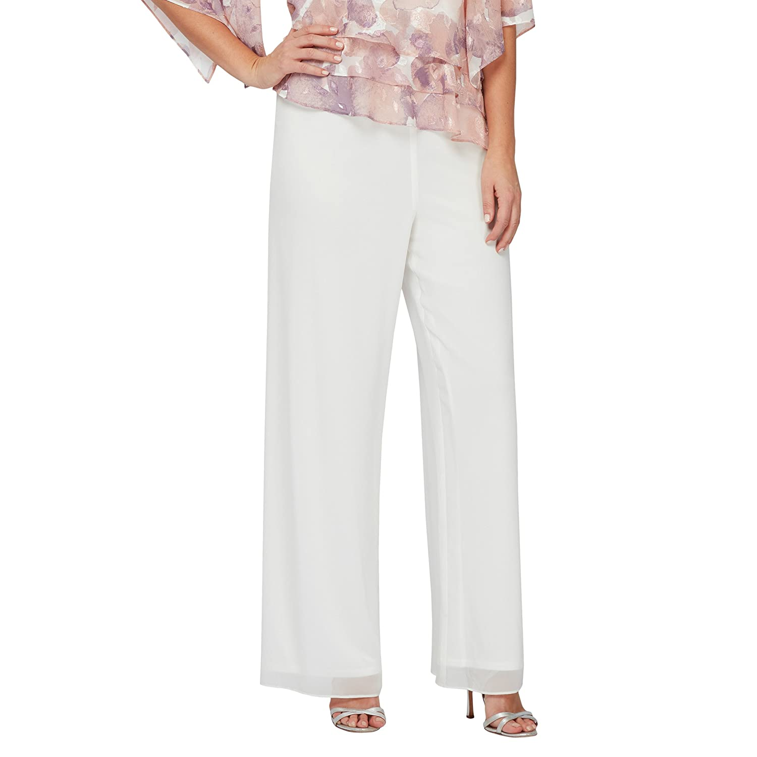 Did Women Wear Pants in the 1920s? Yes! sort of…  Petite Chiffon Pant Alex Evenings Womens $69.00 AT vintagedancer.com