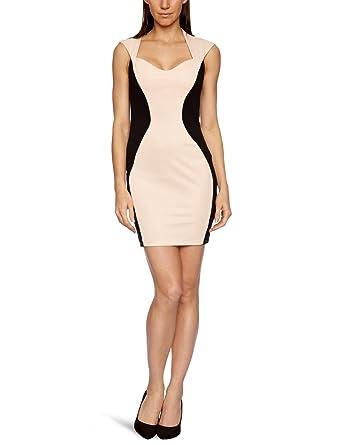 e62f091c03c0d9 Lipsy JD01418 Women s Dress Nude Black 8  Amazon.co.uk  Clothing