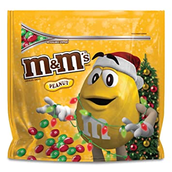 m m s christmas peanut chocolate candy party size 42 ounce bag