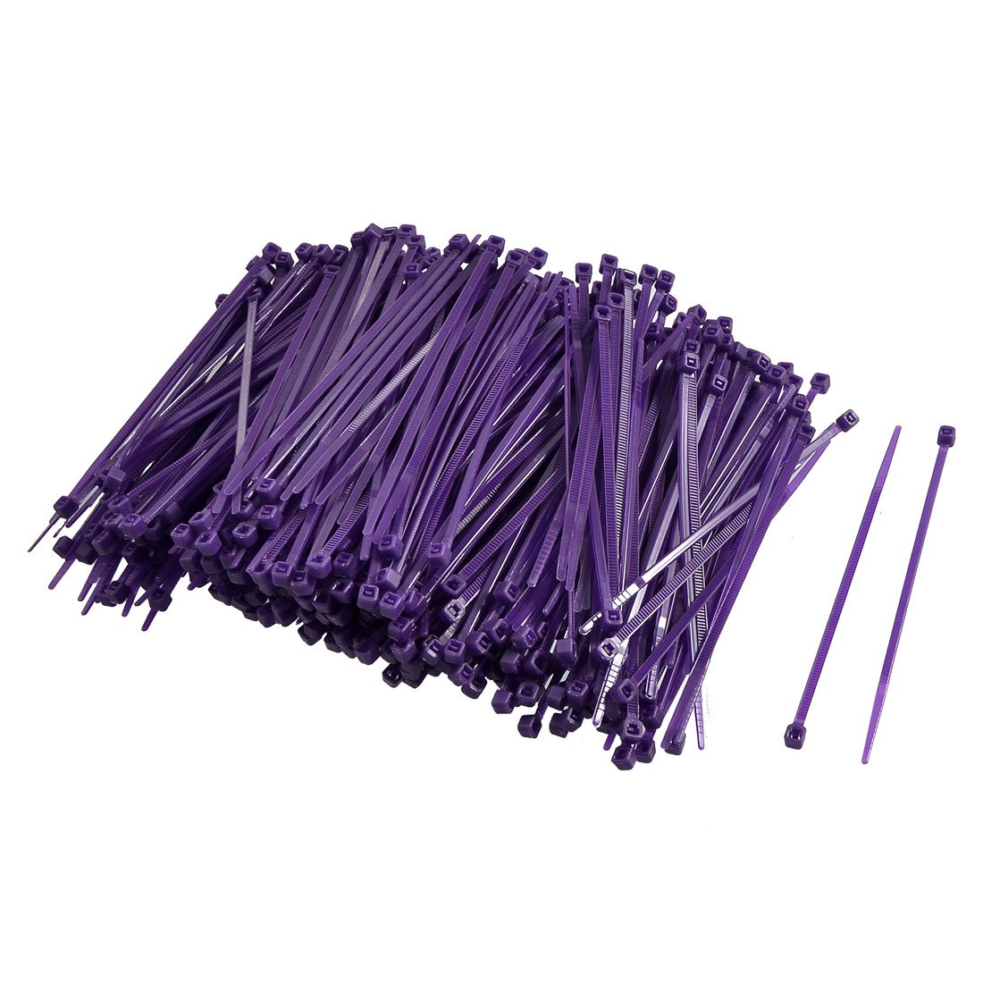 Uxcell Nylon Adjustable Self-locking Cable Ties, 2.5 x 100 mm, Purple, 500 Piece