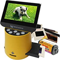 """Wolverine Titan 8-in-1 High Resolution Film to Digital Converter with 4.3"""" Screen and HDMI Output & Worldwide Voltage 110V/220V USB AC Adapter"""