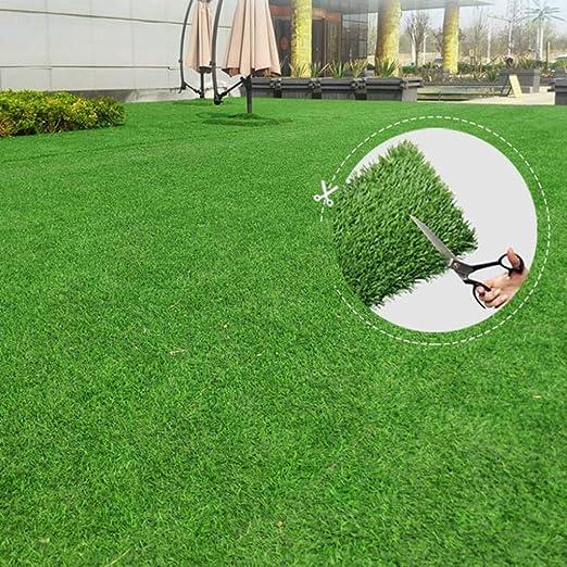 Sintético realista Césped Artificial Turf, cubierta al aire libre Balcón Jardín Decoración, agujeros de drenaje de imitación de hierba alfombra de la manta for los animales domésticos, con una malla /: Amazon.es: