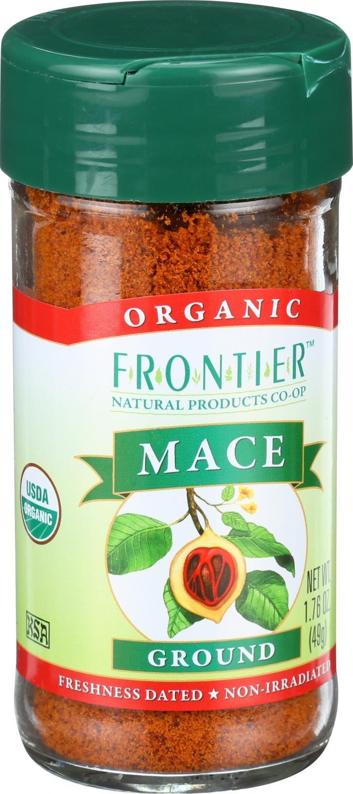 Frontier Herb - Organic Ground Mace - 1.76 oz - GMO Free - Kosher - Non Irradiated