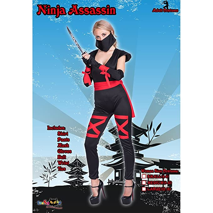 Amazon.com: EraSpooky Sexy Ninja Women Costume: Clothing