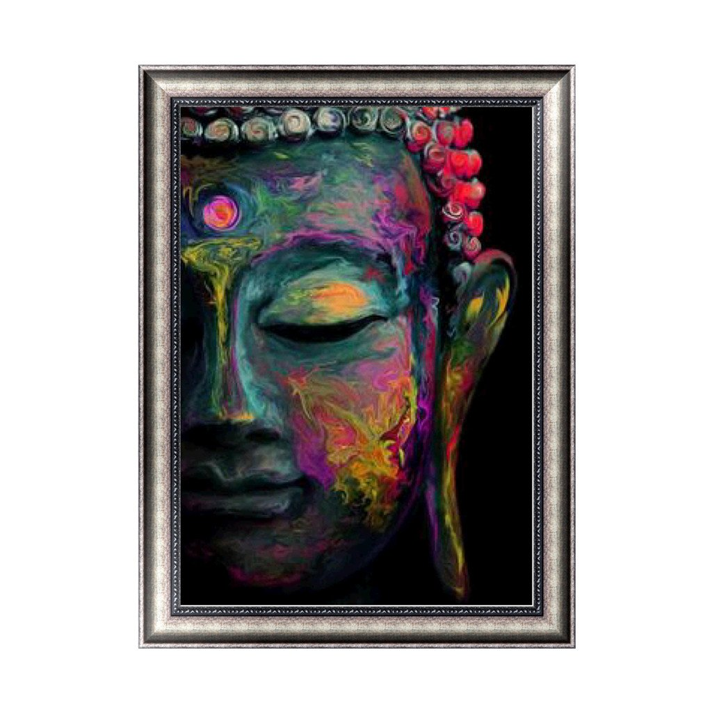 Bottone Buddha 5D DIY Diamond Painting Kit Rhinestone Embroidery Cross Stitch Arts Craft Decor Gift For Christmas Home Wall Decor