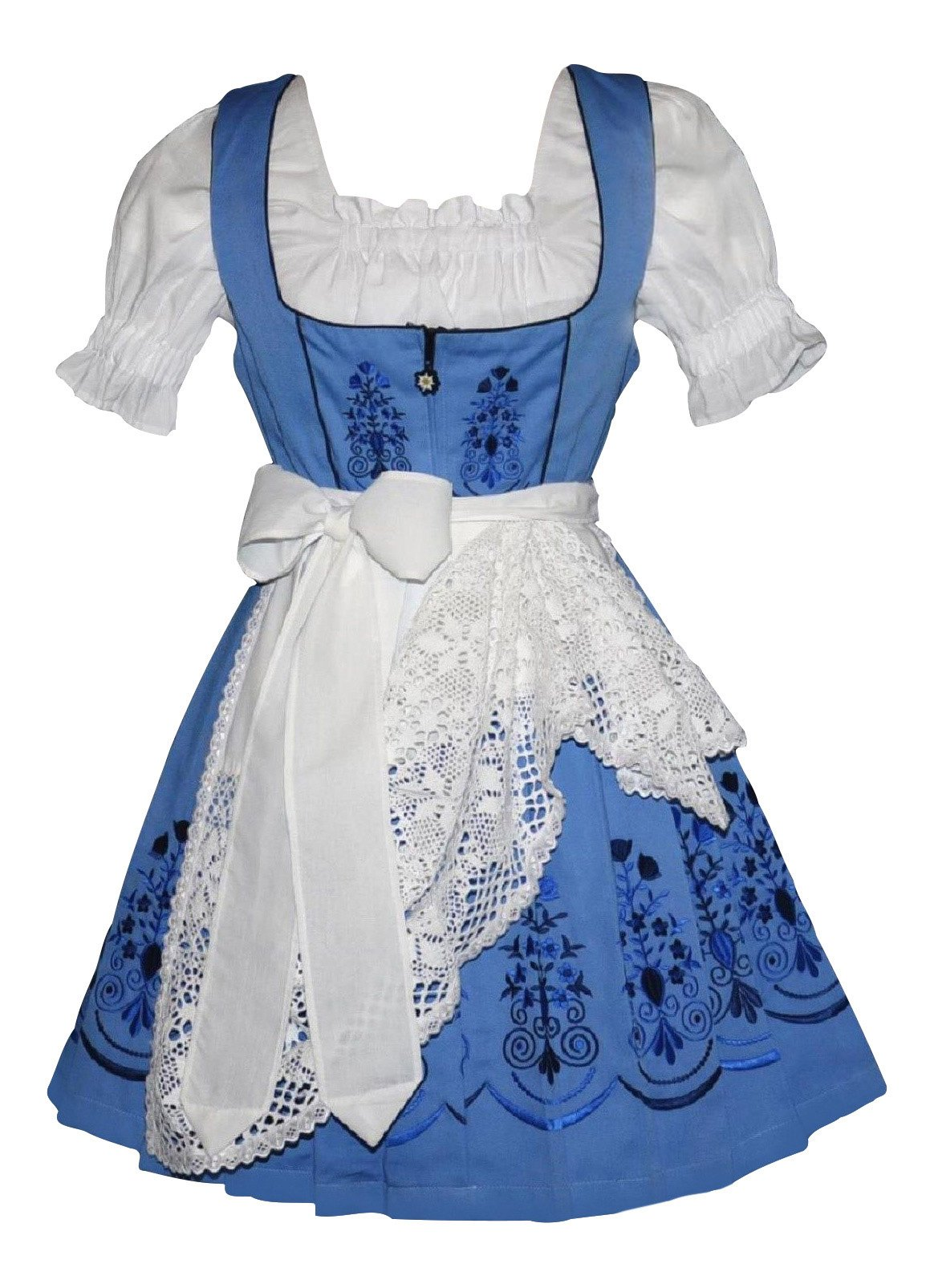 Dirndl Trachten Haus 3-piece Short German Wear Party Oktoberfest Waitress Dress (8)
