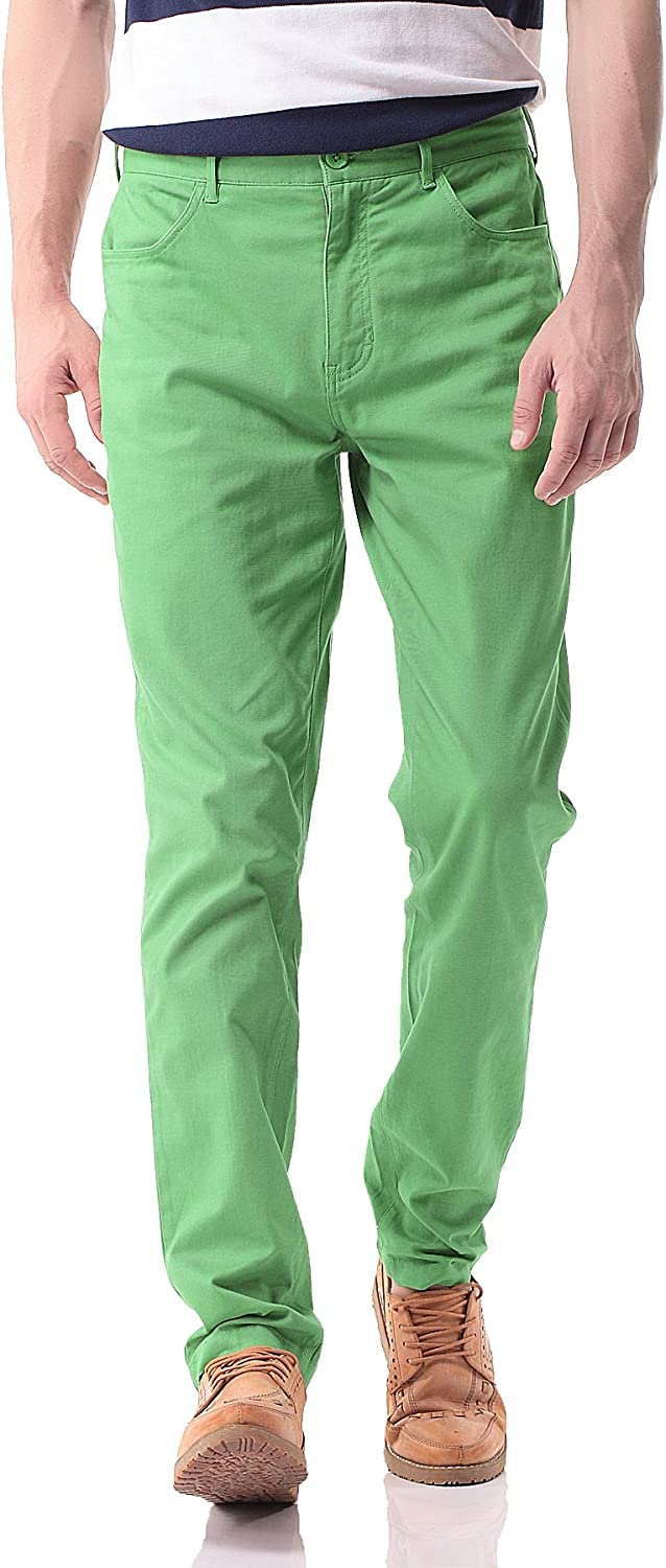 Pau1Hami1ton PH-17 Men's Slim Stretchy Casual Chinos Pants Tapered Work Weekend Office