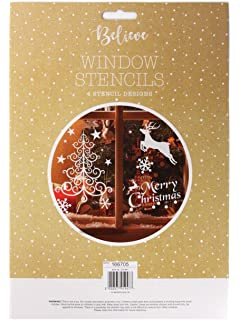 For A Festive and Magical Holiday Kompanion 200 Piece Assorted Christmas Window Decals Set Winter Wonderland//White Christmas Theme Decoration 30cm x 43cm
