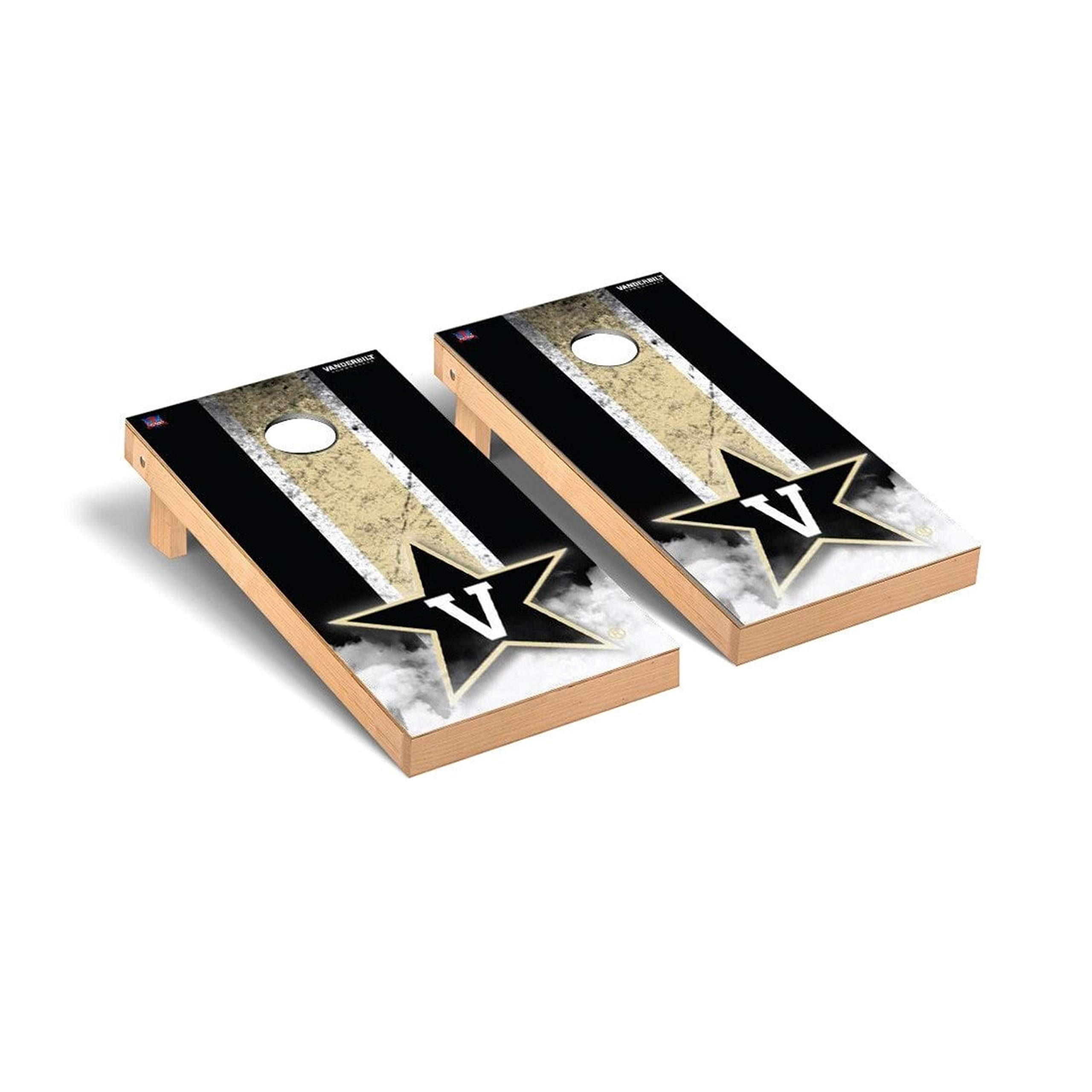Victory Tailgate Regulation Collegiate NCAA Vintage Series Cornhole Board Set - 2 Boards, 8 Bags - Vanderbilt Commodores by Victory Tailgate