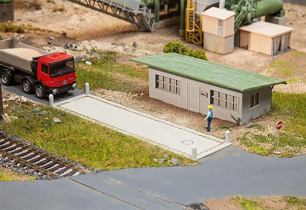 Faller FA 130172 - Báscula para Camiones con Oficina Edificios, Accesorios para el Diseño de ferrocarril, Modelo: Amazon.es: Juguetes y juegos