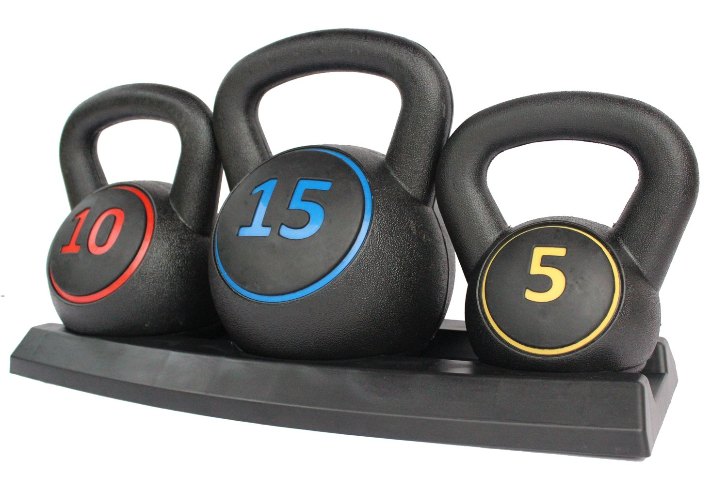 KLB Sport 30 lb Vinyl Coated Kettlebells Set with Rack for Cross Training, MMA Training, Home Exercise, Fitness Workout by KLB Sport