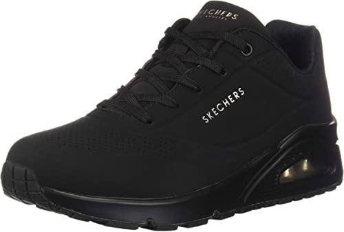 Skechers Damen UNO Stand On Air Sneaker, Schwarz