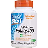 Doctor's Best Fully Active Folate, 400mcg, Veggie Caps, 90ct