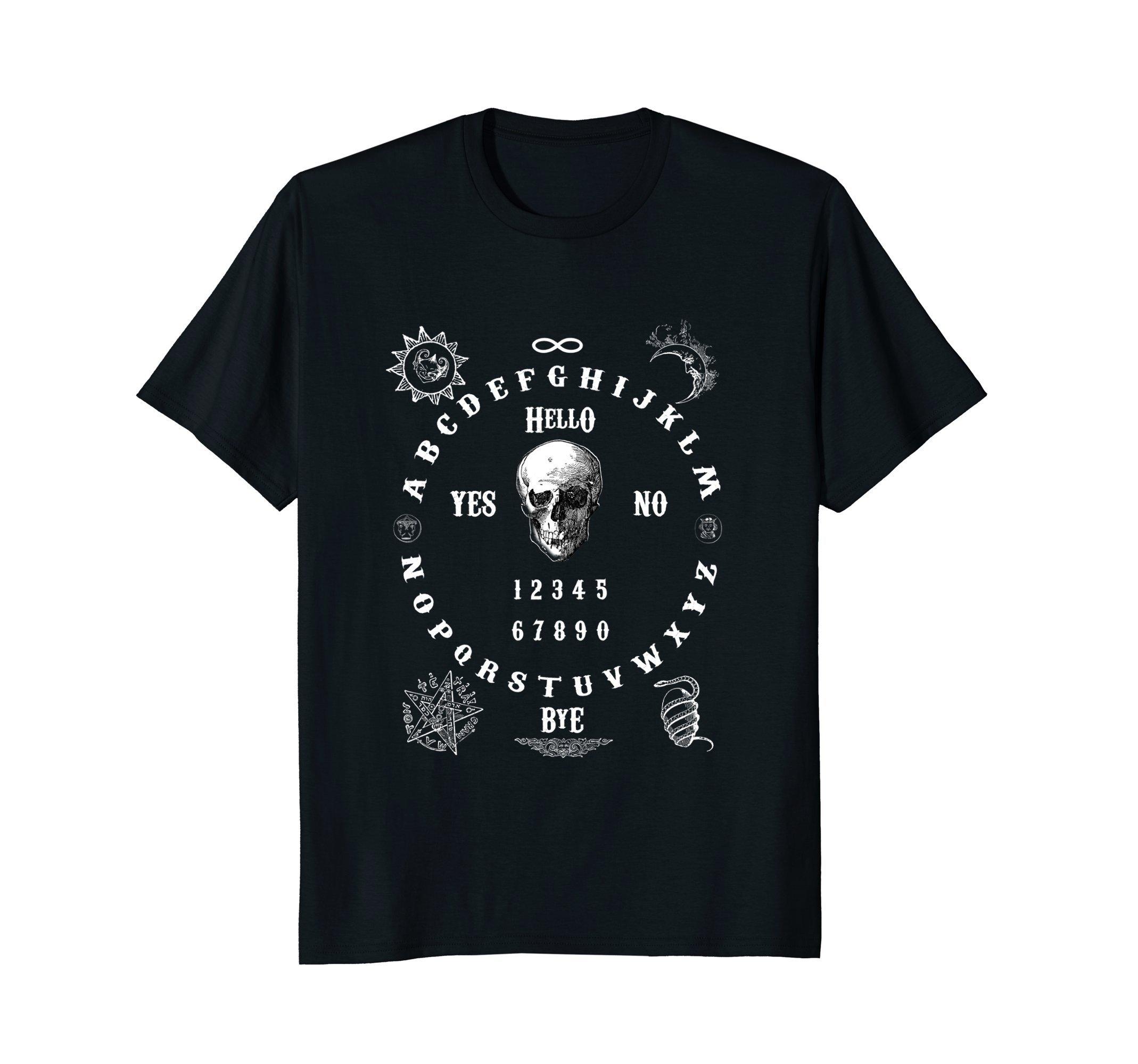 Mens Ouija Board T-Shirt XL Black