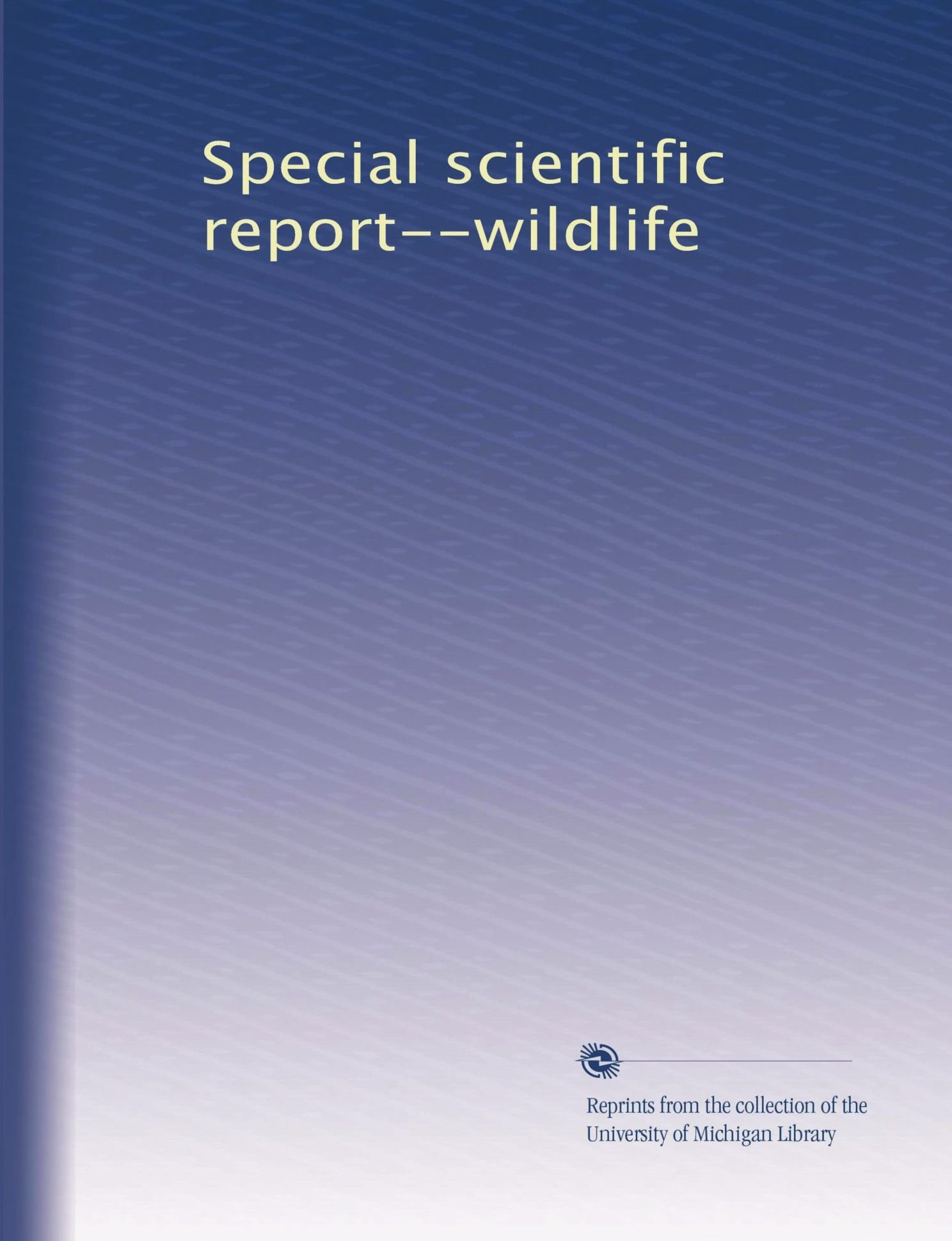Special scientific report--wildlife ebook