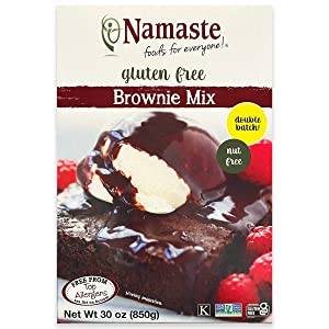 Namaste Foods, Gluten Free Brownie Mix, 30-Ounce Boxes (Pack of 6) – Allergen-Free, Vegan Friendly