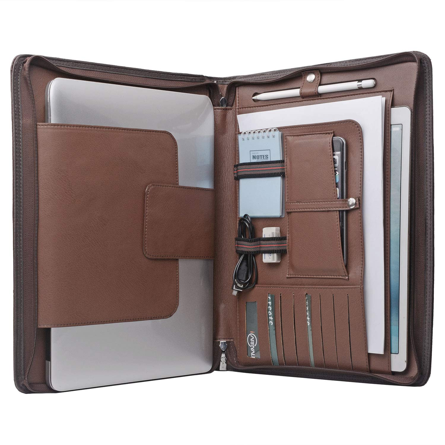 Laptop Portfolio Organizer Case for Surface Book 2 /MacBook Pro 15 inch, MacBook Laptop Folio Case with Organizer Pocket