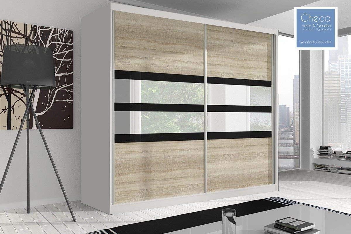 Nuevo armario de puertas correderas 203 cm reflexión Multi F09 ...