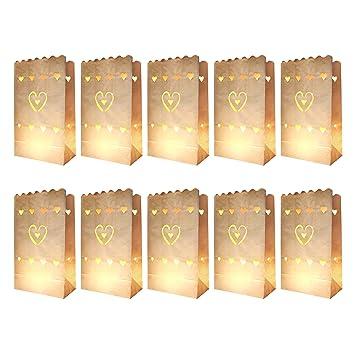 knora 10 x Bolsas de luz, linternas, Vela Bolsas; no ...