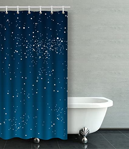 Emvency Shower Curtain Waterproof Vector Background Starry Night Sky Stars Cotton Sofa With Plastic