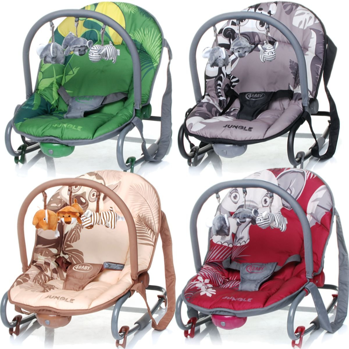 Baby Bouncer JUNGLE (including removable play arch) (BEIGE) Stimo24