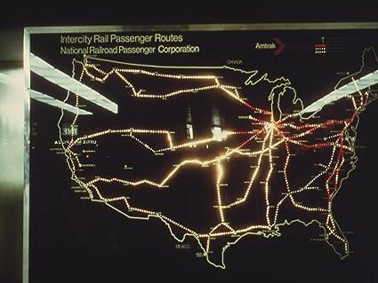 Amazoncom Photography Poster Amtrak Passenger Train Routes In - Us-passenger-train-map