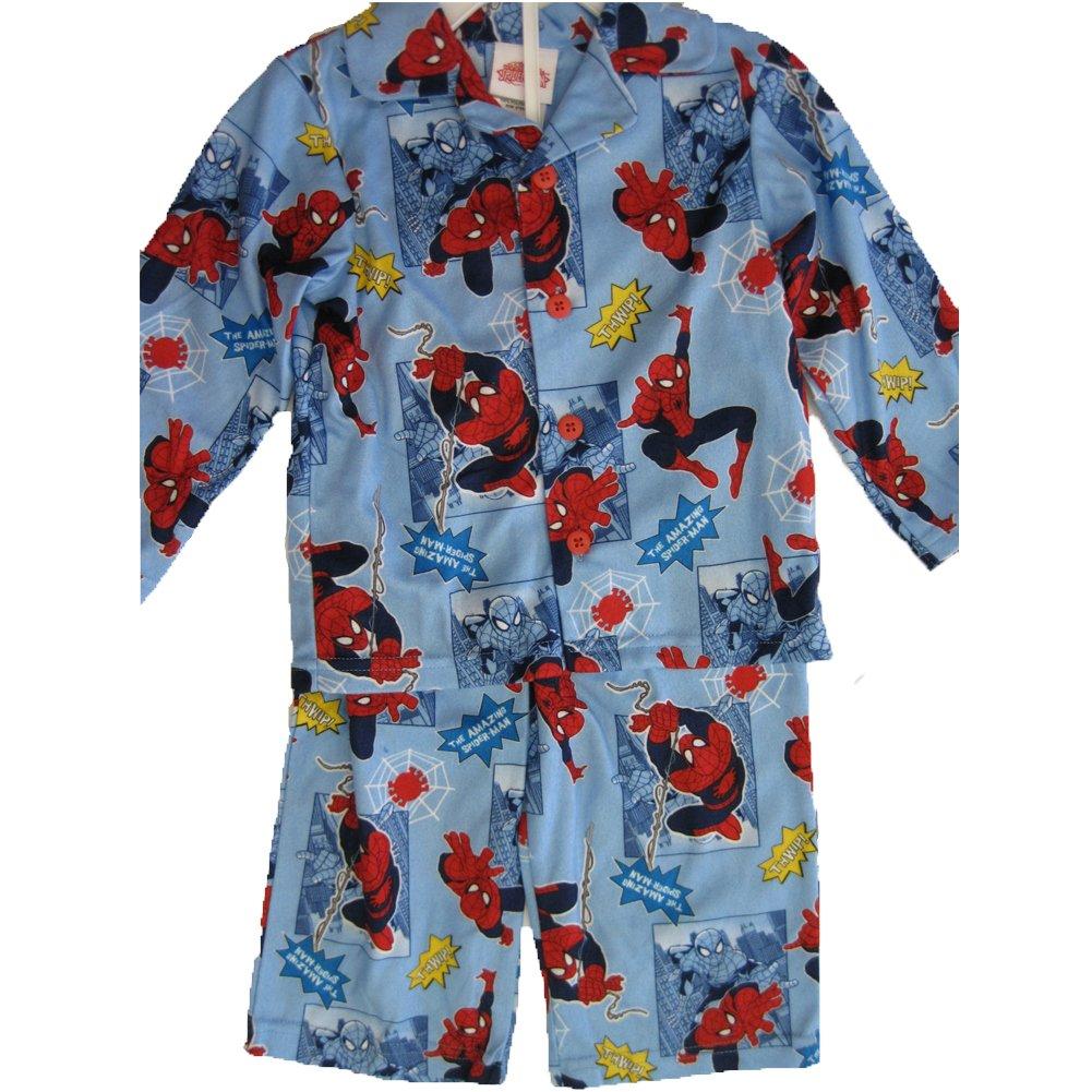 Marvel Little Boys Sky Blue Spiderman Prints 2 Pc Pajama Set 2T-4T