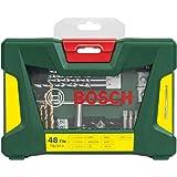 Bosch V-Line Titanio - Maletín de 48 unidades para taladrar y atornillar