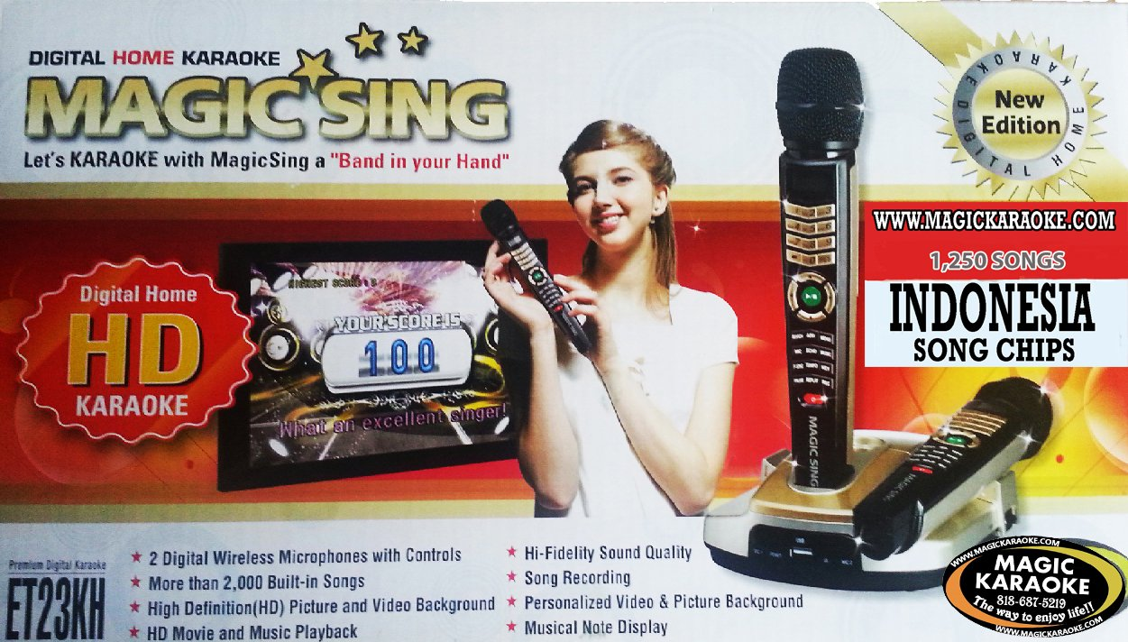 amazon com indonesia et23kh magic sing karaoke mic 1 250 indonesia songs 2 100 english pop songs musical instruments