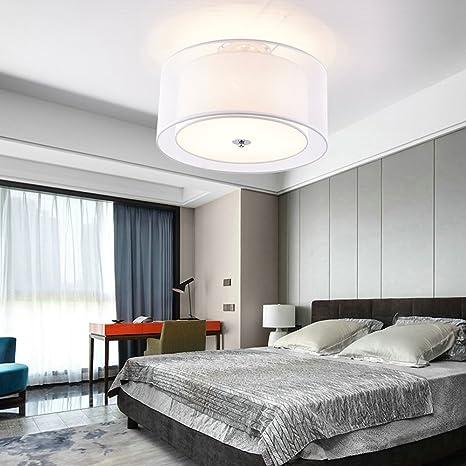 Plafón redondas textil lámpara de techo modern iluminación ...