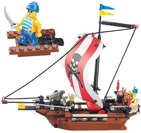 Amazon.com: Sluban Building Blocks Caribbean Pirate Black Pearl Ship ...