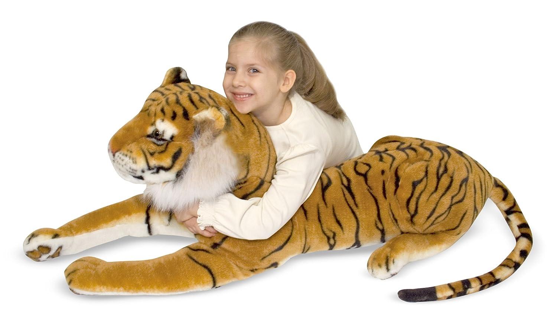 Amazon.com: Melissa U0026 Doug Giant Tiger   Lifelike Stuffed Animal (over 5  Feet Long): Melissa U0026 Doug, 2103 : Toys U0026 Games