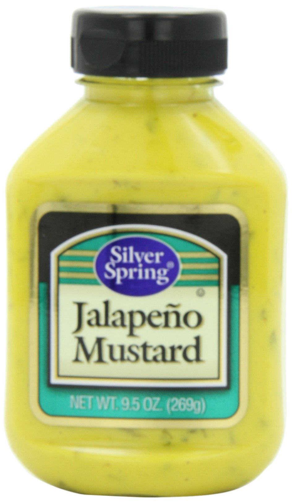 Silver Springs Mustard, Jalapeno, 9.5-Ounce Squeeze Bottles (Pack of 9)
