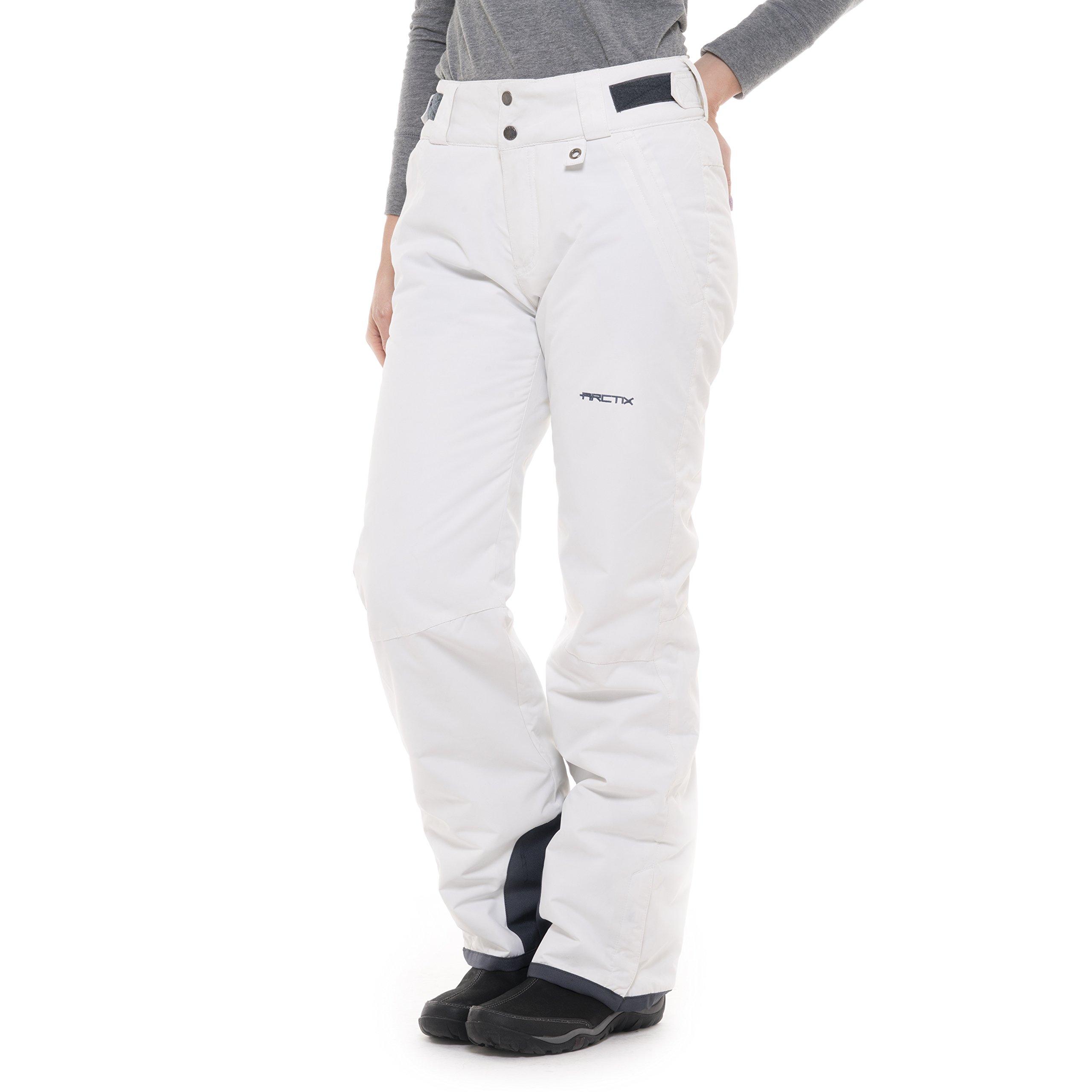 Arctix Women's Insulated Snow Pant, White, Small/Regular