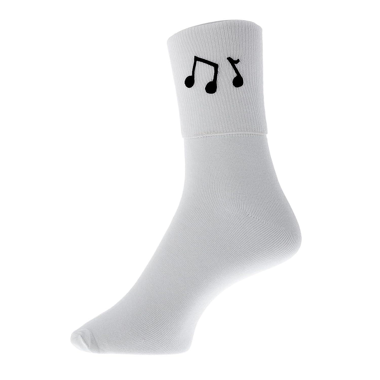 1950s Socks- Women's Bobby Socks Music Notes Bobby Socks for Ladies $8.99 AT vintagedancer.com