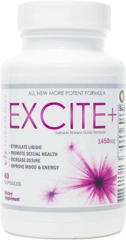 ExcitePlus | Intimacy Formula for Women | Epimedium, Maca, Vitex, Dong Quai, Shatavari and More | Capsules to Drive Better Intimate Experiences | 30 Day Supply