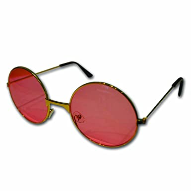d408c88b9a1ea Round John Lennon Style Retro Sunglasses (Pink)  Amazon.co.uk  Clothing
