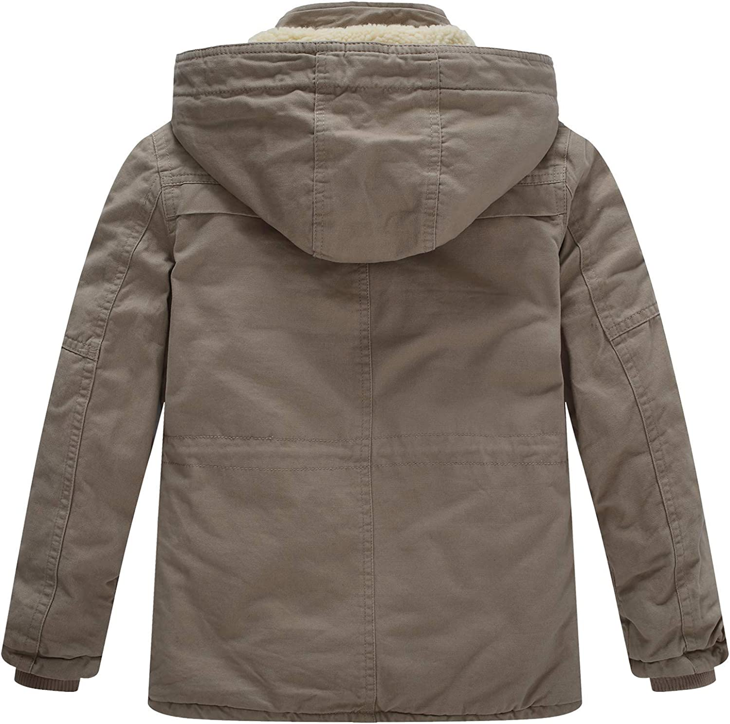 WenVen Boys /& Girls Cotton Jackets with Removable Hood