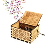 Womdee Music Box -You Are My Sunshine Theme To Girlfriend, Wooden Classic Music Box Crafts With Hand Crank, 18 Note…