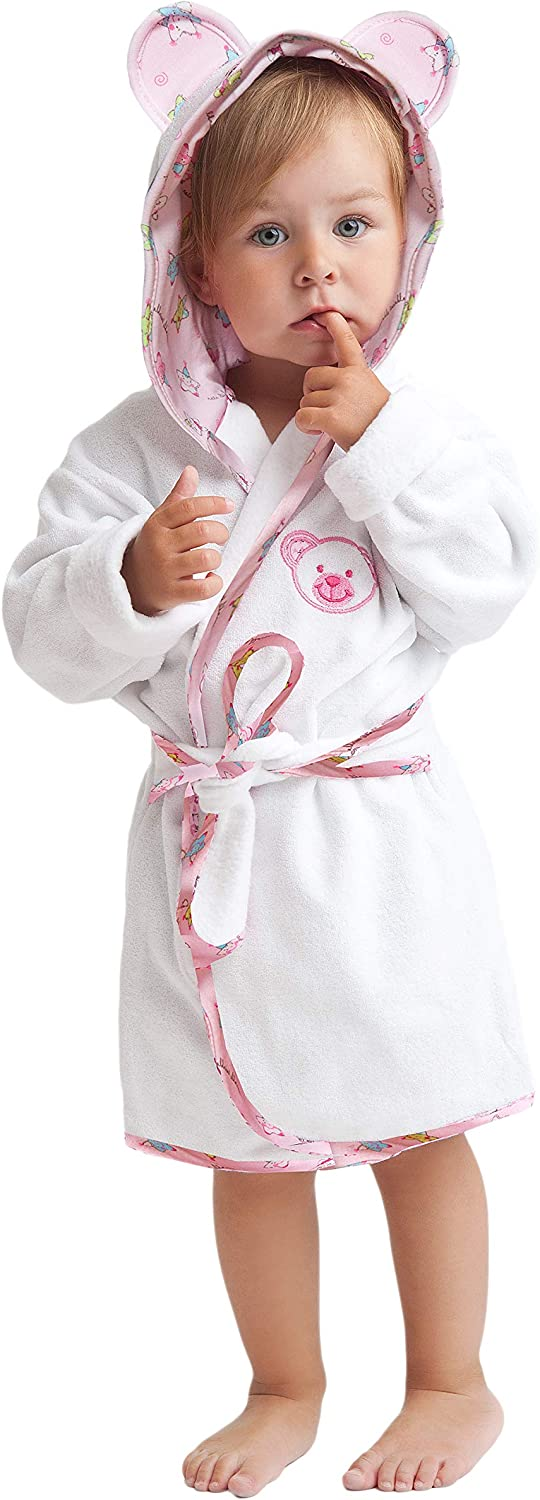 size 86-158 made in the EU Leverie cute childrens bathrobe for boys and girls