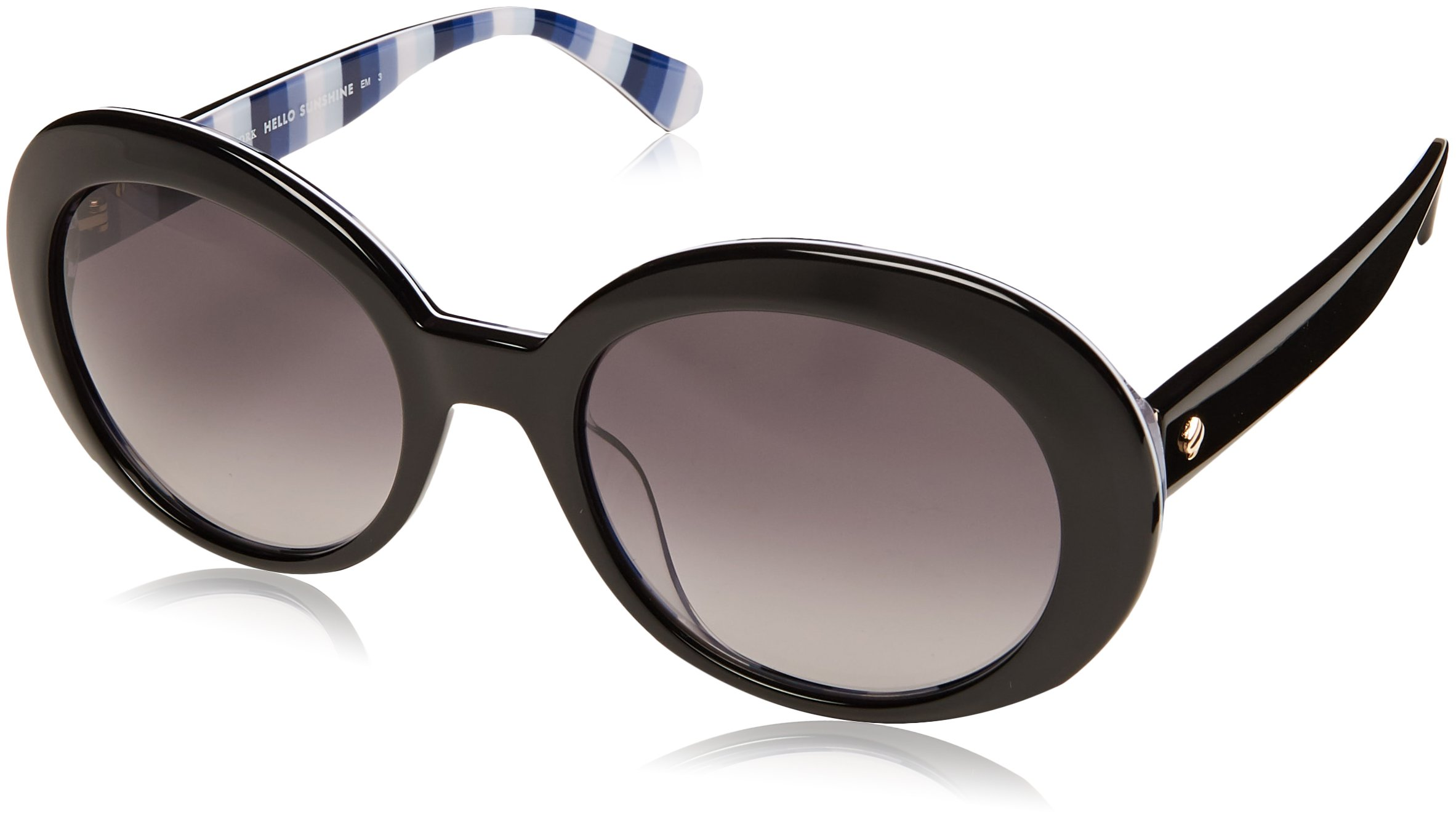 Kate Spade Women's Cindra/s Round Sunglasses, Black, 54 mm by Kate Spade New York